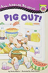 Pig Out! [With 24 Flash Cards] (All Aboard Reading)