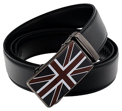 QHA Mens Union Jack British Flag Belt Automatic Buckle Q53