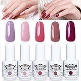 Perfect Summer Gel Nail Polish 5PCS Soak Off Gel Varnish UV LED Manicure Gift Set 8ml #04