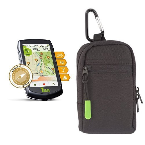TEASI one³ eXtend Outdoor-Navigationsgerät & TEASI bag - Schutztasche für TEASI ONE, TEASI ONE ², TEASI ONE ³ & PRO (ohne Adapterplatte), Schwarz