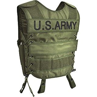 normani Taktische SWAT Weste mit Pistolenholster und abnehmbarem Schriftzug auf dem Rücken Farbe US Army Größe M/L