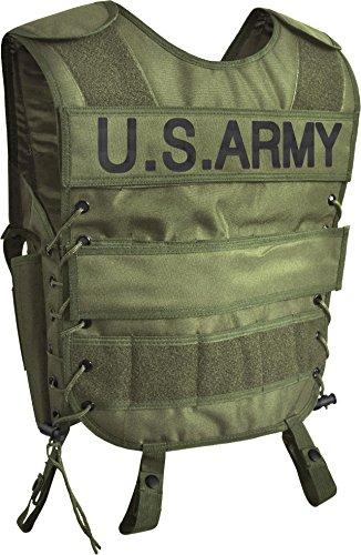 normani Taktische SWAT Weste mit Pistolenholster und abnehmbarem Schriftzug auf dem Rücken Farbe US Army Größe ()