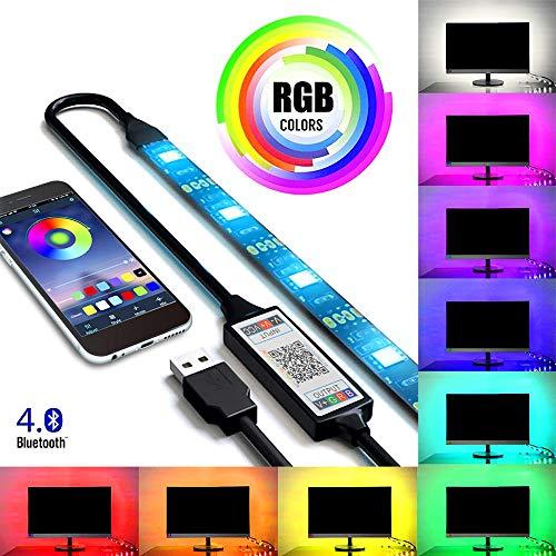 Kreema 5M RGB 30LED Streifen Licht Wireless Smartphone App Steuer USB Powered Flexible Wasserdichte Beleuchtung Kit (Usb-powered-licht)