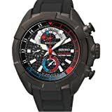Seiko–SPC149P1–Armbanduhr–Quarz Chronograph–Zifferblatt schwarz Armband Kautschuk schwarz