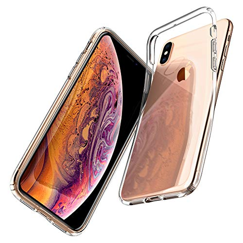 Spigen Liquid Crystal, iPhone XS Hülle, iPhone X Hülle, Transparent TPU Silikon Handyhülle Kratzfest Durchsichtige Schutzhülle Flex Case für iPhone XS/iPhone X (Crystal Clear) 057CS22118