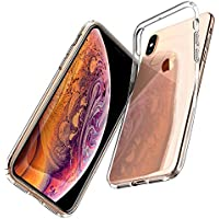 Spigen Coque iPhone XS / Coque iPhone X, [Liquid Crystal] Ultra Fine TPU Silicone [Crystal Clear] Transparent / Adhérence Parfaite / Anti-trace Souple Coque pour Apple iPhone XS et iPhone X