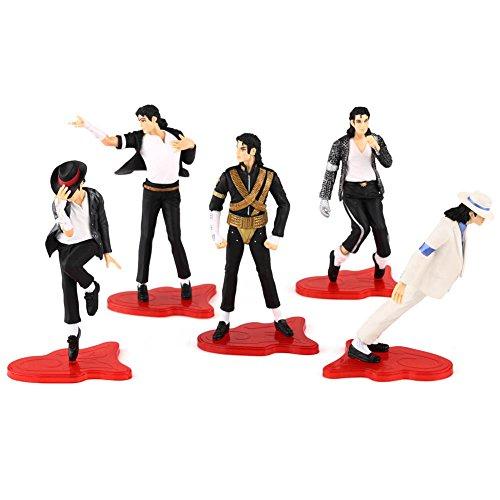 Preisvergleich Produktbild 5 stücke Michael Jackson Figur Set -Dangerous-Billie Jean-Smooth Criminal-usw..