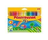 Plastidecor - Estuche de 24 ceras de colores