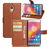 Excelsior Premium Leather Wallet Flip Cover Case For Lenovo P2 (Inner TPU) - Brown