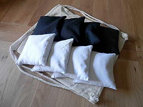 Cornhole Bags x8 (Grey and Black)
