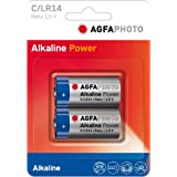 AgfaPhoto Batteries–Digital Alkaline C Lot de 2