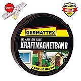 GERMATTEX Magnetband selbstklebend I Magnet I Magnetklebeband I Magnetklebestreifen I Magnetisches Klebeband I Magnetstreifen I Schule & Präsentationen