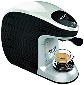 Hotpoint CM MS QBW0 Macchina per Caffe Espresso, 1300 watts, Nero/Bianco