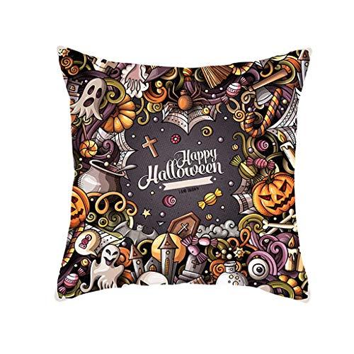 Junjie Halloween Pumpkin Throw Pillow Cover Pillowcases Decorative Sofa Cushion Cover Dekokissenbezug Halloween Pumpkin Dekorative Sofakissenbezug