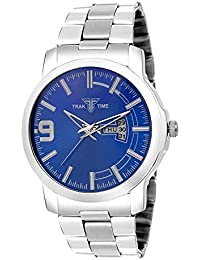 Day & Date Watch | Mens Business Day & Date Casual Watch | Blue Dial Analog Watch | Men Casual Watch | Dial Color...