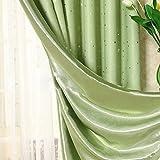 GEZICHTA Shading Verdunkelungsvorhang, Blackout Vorhänge Super Weichem Thermo-isolierte Tülle Vorhänge Verdunkeln Fenster Behandlung fertige Öse Vorhang für Wohnzimmer Schlafzimmer, grün, Free Size