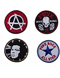 Set of 4 Classic Punk Sew On Patches
