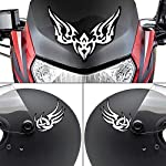 Autographix Rising Black & White Tribal Tattoo Bike Tank,Visor and Helmet Sticker Decals Bikes & Motobikes