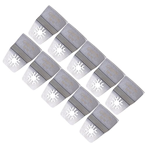 CNBTR Oszillierwerkzeug aus Edelstahl, mit Schnellentriegelung, 52 mm breit, flexibel, 10 Stück