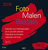 Korsch Foto Malen Basteln schwarz Bastelkalender 45,5x48cm 2018 34278