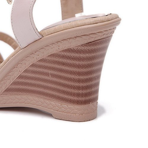 Adee Mesdames Fashion cales High-Heels Matière souple Sandales Rose - rose