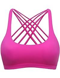 TTDW Sport BH Yoga BH Fitness BH Bustier Stretch Sports Bra Starker Leichter Halt mit X-Rücken Für Running BH Geschmeidig und Luftig Für Damen