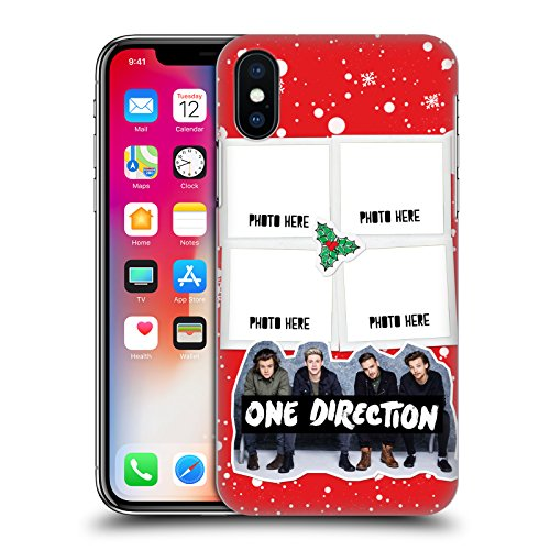 Personalizzata Personale One Direction 1D Palla Di Natale Natale Cover Retro Rigida per Apple iPhone X Neve 4 Foto