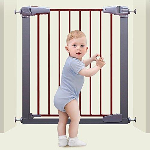 Barrière de sécurité Porte De Bébé Extra Large avec Porte pour Escalier avec Rampes Et Porte Murale pour Animaux De Compagnie, Gris 77-173 Cm De Large (Taille : 87-93cm)
