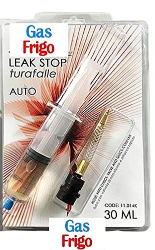 Turafalle blocca perdite da 30 ml. con adattatore attacco rapido per condizionatore auto