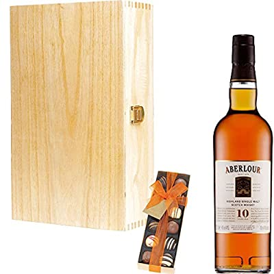 Aberlour 10 Year Old Single Malt Scotch Whisky Corporate Gift Set With Handcrafted Gifts2Drink Tag