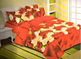 ELLIS 100% Cotton Double Bed Sheet with ...