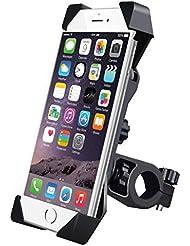 Jhua Universal Fahrrad Handyhalterung 360 Grad drehbaren Smartphone Handyhalter Fahrrad Verstellbar für iPhone 6S/ 6 / 5S/5 /4S iphone 3G / 3GS Samsung Galaxy S5/S4/S3 auf Fahrrad / ATV / Motorrad