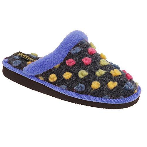 Pantofole colorate da donna Fucsia