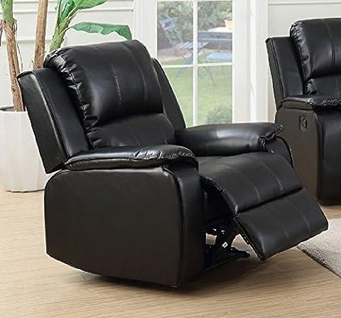 Black Reclining Recliner Armchair JENSON (Armchair)