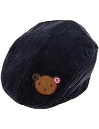 D DOLITY Béret Chapeau Mode Dessin Animé Ours Chapeau Enfant En Bas âge Enfants  Bébé Garçons c1f4e0b83fb