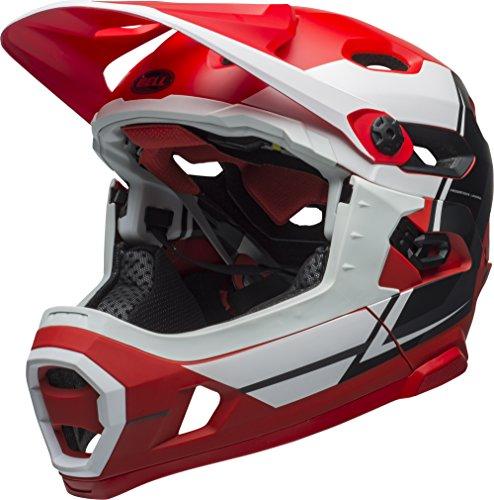 BELL Super DH MIPS Fahrrad Helm, Rot/Weiß/Schwarz, Small (52-56 cm)