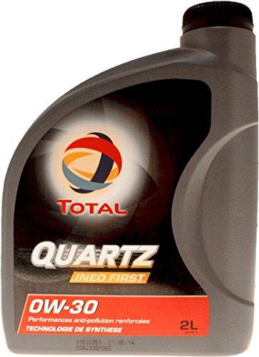 Bidon 2 litres huile moteur Total Quartz INEO First 0W30 spéciale PSA 183104 pas cher