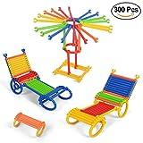 NextX 300 Bastoncini per Costruzioni 3D - Giocattolo Educativo per Piccoli Ingegneri - Puzzle Creativo 3D - Regalo Perfetto per Bambini 3+ Anni