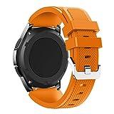 Transer® Silikon Uhrenarmband für Samsung Gear S3frontier- Sports Armband Ersatz Armbanduhr Band, Orange B