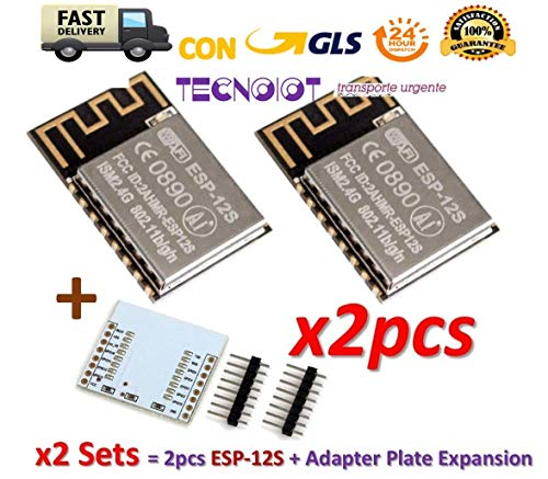 2pcs ESP-12S ESP12S ESP8266 Serial WIFI Module (upgrade ESP-12) +Plate Expansion | 2 stücke Esp8266 Esp-12S In Der Port-serie Wireless WiFi Remote Transceiver Modul + Erweiterungsplatte -