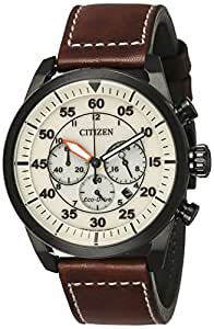 Citizen Chronograph Off White Dial Men's Watch-CA4215-04W