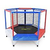 Übungs-Trampolin Gartentrampoline Faltbares Mini-Trampolin Kinder mit Schutznetz kleines Fitness-Trampolin für Heimkinder Indoor-Klapp-Sprungfederbett mit Einem Gewicht von ca. 120kg Trampoline