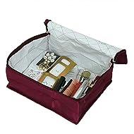 Kuber industrias organizador de viaje, Make up Kit Kit de, pañuelo, bajo Kit de prendas de vestir de raso acolchado material (morado) -ki3286