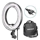 Neewer Flash Macro 36cm Exterior 25cm Interior 400W 5500K, Lámpara Regulable Fluorescente Luz Anillo para Cámara Foto Video