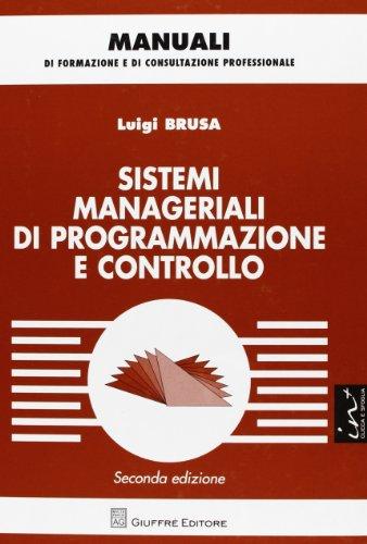 Sistemi manageriali di programmazione e controllo