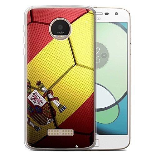 Stuff4® Carcasa/Funda TPU/Gel para el Motorola Moto Z Play/Droid / Serie: Naciones de fútbol - España Español