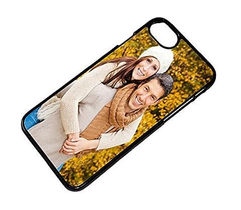 Hülle für iPhone 7 Schale Cover Case mit eigenem Wunsch Foto Motiv Design Logo, Farbe:Schwarz