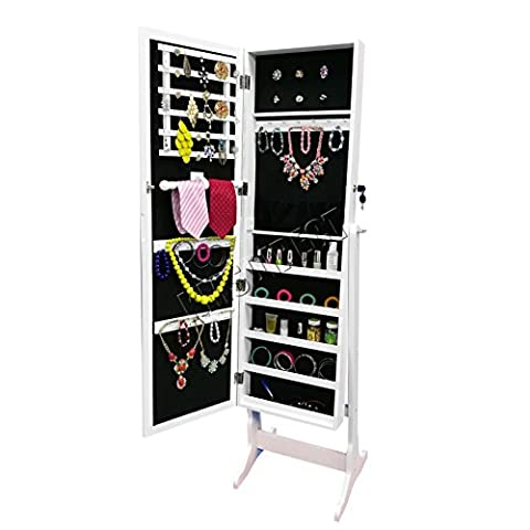 FoxHunter Armoire Jewellery Makeup Cabinet Box Storage Stand Organiser Rings