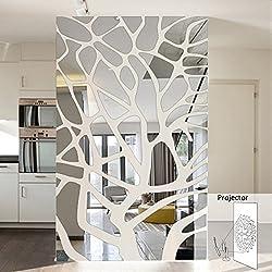 #Una casa habitación de matrimonio decorar un salón televisión espejo de pared de fondo geometría mosaico decorar Wall sticker,51pcs