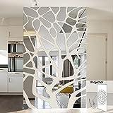 Thatch Kreative Wandaufkleber Tapete Die Verzierung eines TV Hintergrund Wand Spiegel Mosaik Geometrische dekorative Wand Aufkleber,silver